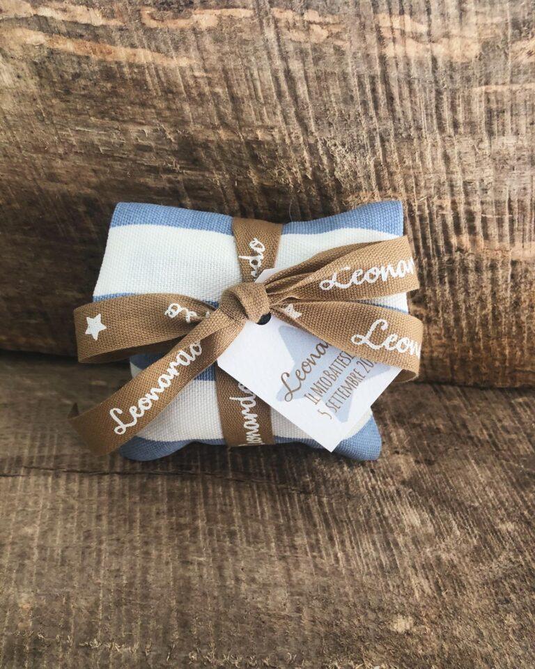 Bustina porta confetti personalizzata in cotone