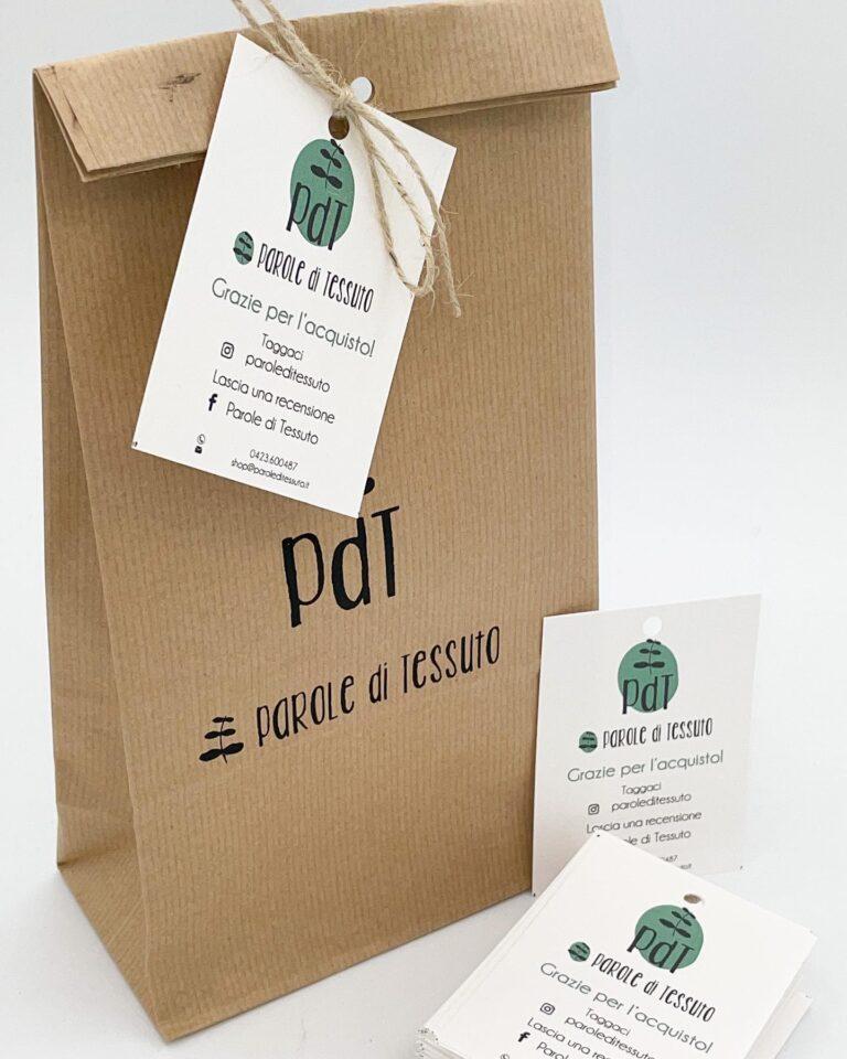 Sacchetto personalizzato di carta per packaging