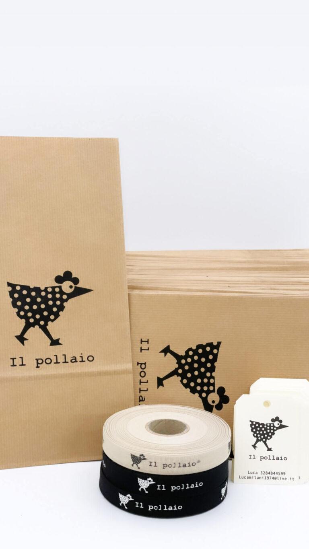 sacchetto di carta personalizzato stampato con logo