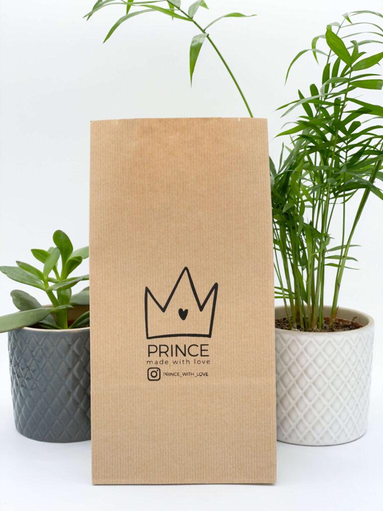 sacchetto di carta persobalizzato stampato con logo